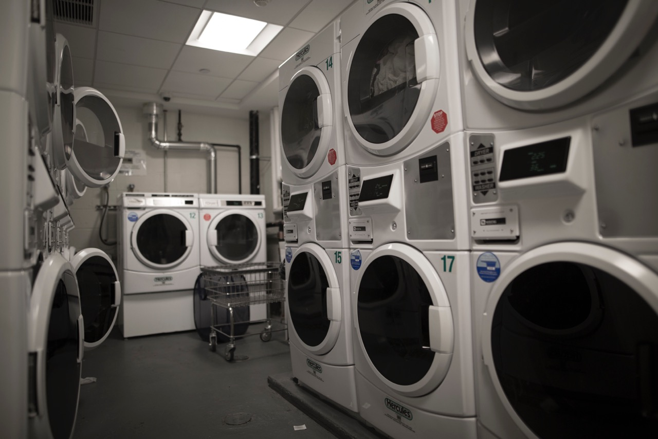 Laundry facilities at the new dorms. Photo by Sage Gu (CE '19)