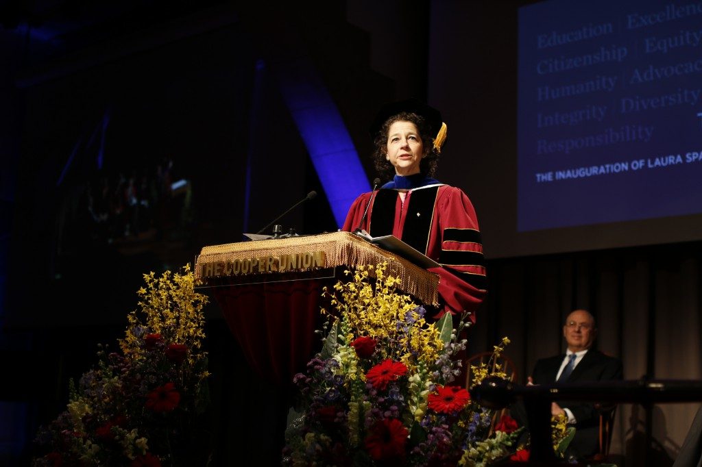 Rachel Warren speaks at the inauguration. Photo by Wentao Zhang (ChE '19).
